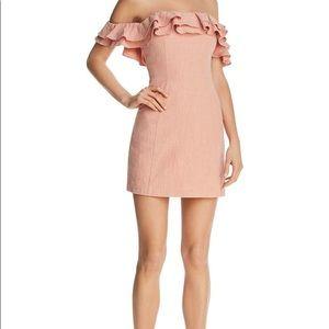 Saylor Off the Shoulder Linen Dress